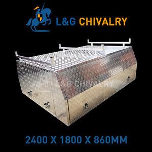 Canopy-Single-Cab-2400x1775x860mm-Aluminium-Checkerplate-internal-bracing