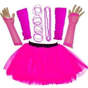 Nouveau-Femme-Neon-Tutu-Jupe-Set-enterrement-vie-jeune-fille-annees-80-Fancy-Dress-accessoires-8-16