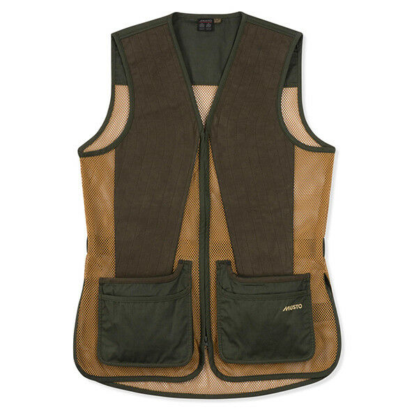 Musto Competition Skeet Vest in Vineyard Olive - Sizes S to XXXL