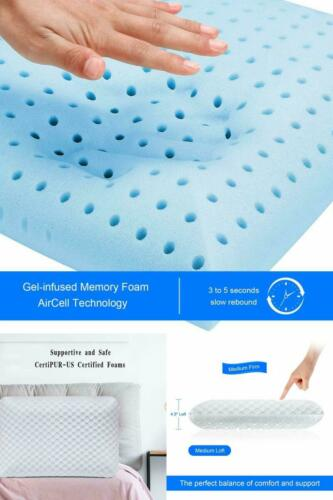 Ventilated Pillow Premium Gel Cooling Infused Memory Foam Bed Pillow New Design