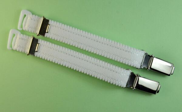 Straps, Strapsbänder 1,5cm breit mit Hosenträgerclip zum Anhaken