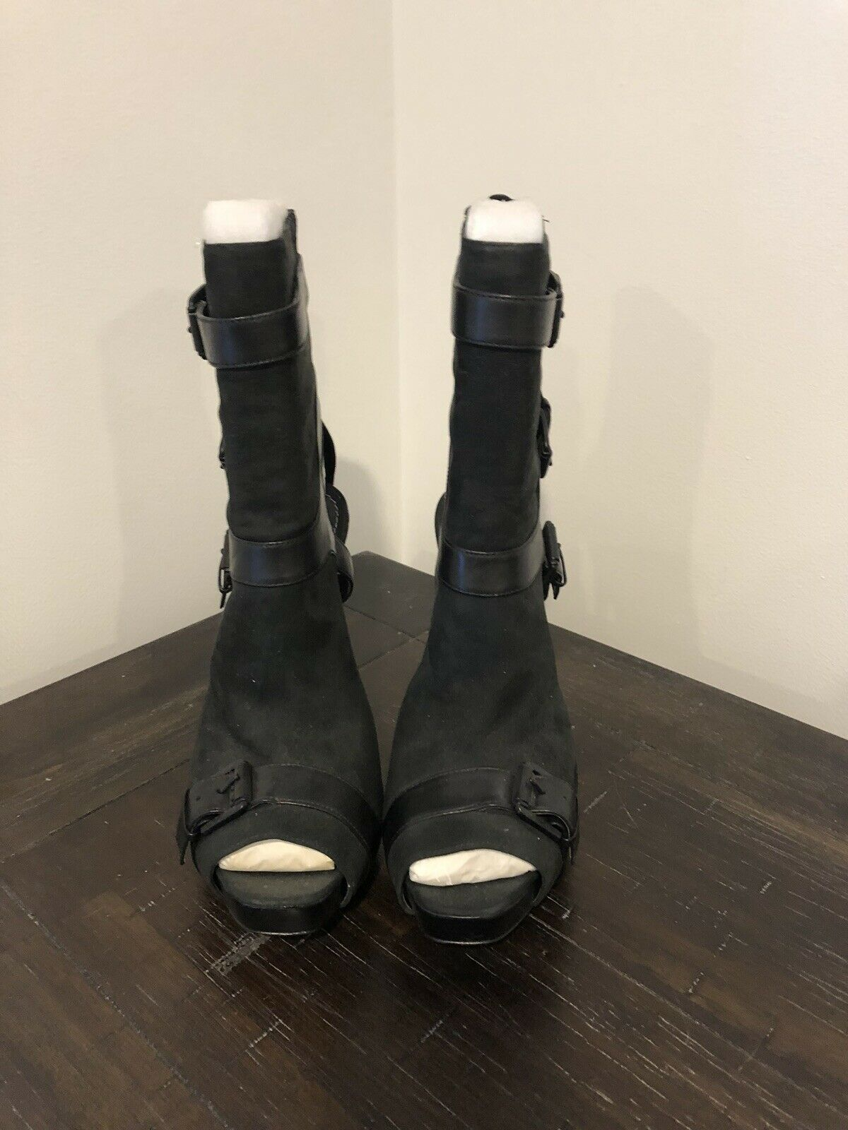 REPORT SIGNATURE noir LEATHER bottes Taille 9 NEW WITHOUT BOX
