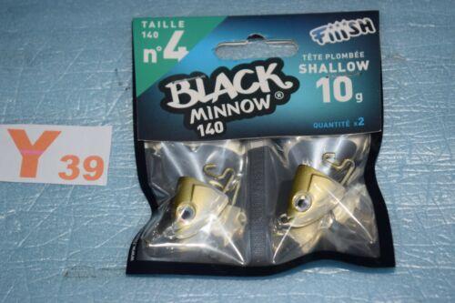 Tête plombée FIIISH BLACK MINNOW SHALLOW couleur Kaki taille au choix neuf