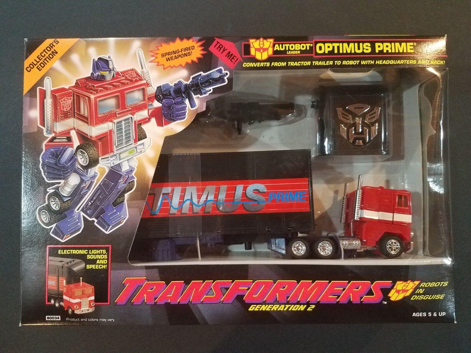 Transformers G2 Optimus Prime & Megatron (Hasbro, 1993) Original Sellado  Menta en Caja Sellada