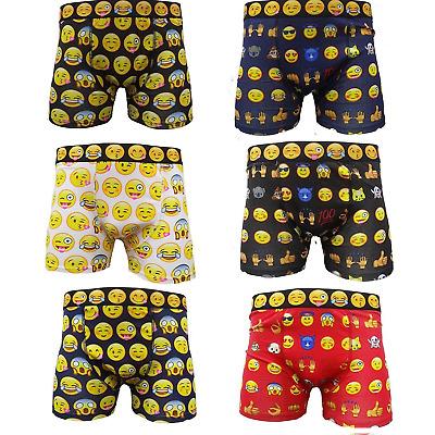 Emoji Boxer Shorts Emotions Smiley Faces Underwear