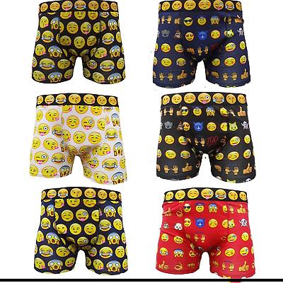 Emoji Boxer Shorts Smiley Faces Underwear