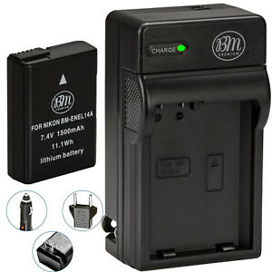 BM-EN-EL14a-Battery-amp-Charger-for-Nikon-D3100-D3200-D3300-D3400-D3500-DF