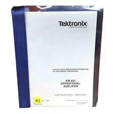 Tektronix Am501 Operational Amplifier Instruction Manual