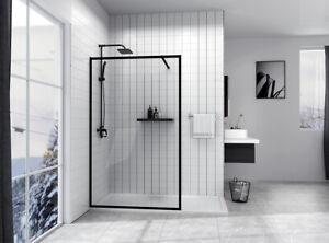 Duschwand Duschabtrennung Duschkabine Scharniertür Duschtür Nische 8mm NANO Glas