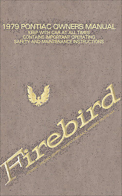 FIREBIRD 1981 OWNERS MANUAL PONTIAC OWNER/'S BOOK TRANS AM FORMULA