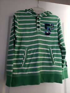 Arizona Jean Co. French Terry Striped Hoodie Pullover Size 8 EUC