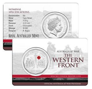 2014-Australia-at-War-50c-UNC-Coin-WESTERN-FRONT