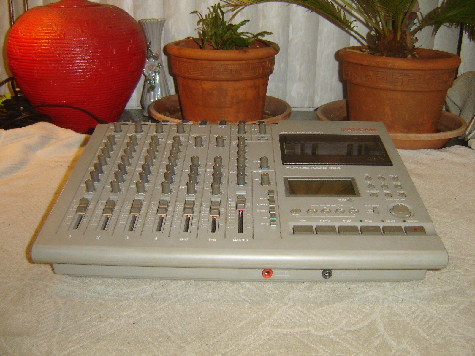 Tascam Portastudio 464, 4 Track Cassette Tape Recorder Mixer, DBX, for Repair