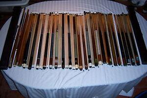 Willie-Hoppe-Titlist-Pool-Cue-Professional-Blue-Sticker-2-shafts-Original