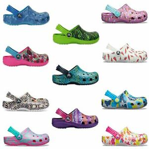 Crocs-Classic-Graphic-amp-Drew-Barrymore-Kids-Clogs-Shoes-Sandals-in-Wide-Colours