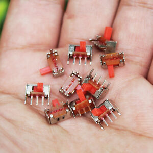 10PCS Mini Slide Switch 3-pin 2-stage Small switch On-Off 2 Position Stoggle