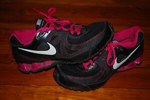 Women's Nike REAX Run 7 Shoes Black White Fireberry Running Sneaker (7)