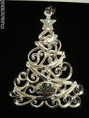2016 DATED SPARKLING SILVER CHRISTMAS TREE ORNAMENT ...