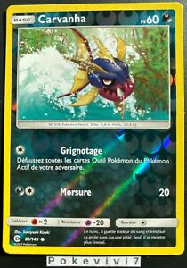 Carte-Pokemon-CARVANHA-81-149-Reverse-Soleil-et-Lune-1-SL1-FR-NEUF