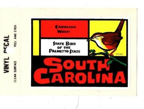 Lot of 12 South Carolina Bird Souvenir Luggage Decal Stickers New Free S/&H