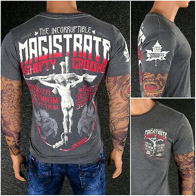 YAKUZA Premium T-Shirt YPS 2815 Grau M L XL XXL 3XL 4XL Totenkopf Herren Shirt