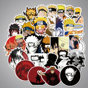 100Pcs-Lot-Naruto-Pegatinas-Bomb-Adhesivas-equipaje-Patineta-coche-Calcomanias-De-Laptop