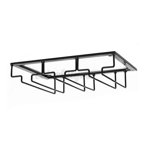 Kitchen Under Cabinet Wine Glass Rack Bar Shelf Stemware Home Holder Storage