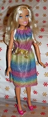 Pink Sparkle Hand Crochet Bikini For The My Size Barbie Doll