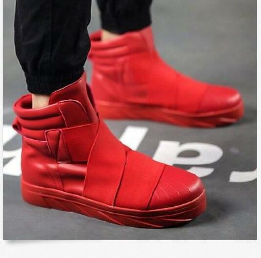 Mens High Top Sneaker Round Thick Toe Thick Round Sole Ankle Sports Flats Casual Shoes size fac466