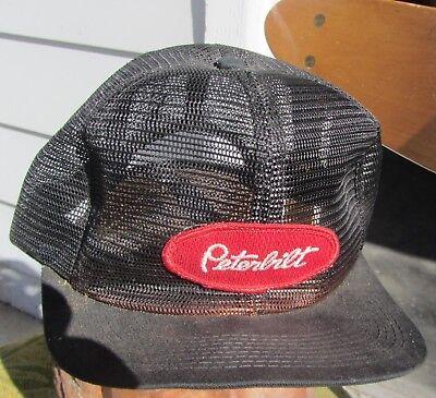 Rare Vintage Peterbilt Mesh Patch Snapback Trucker Hat Cap K Brand NOS 70s  80s 0be602d8279