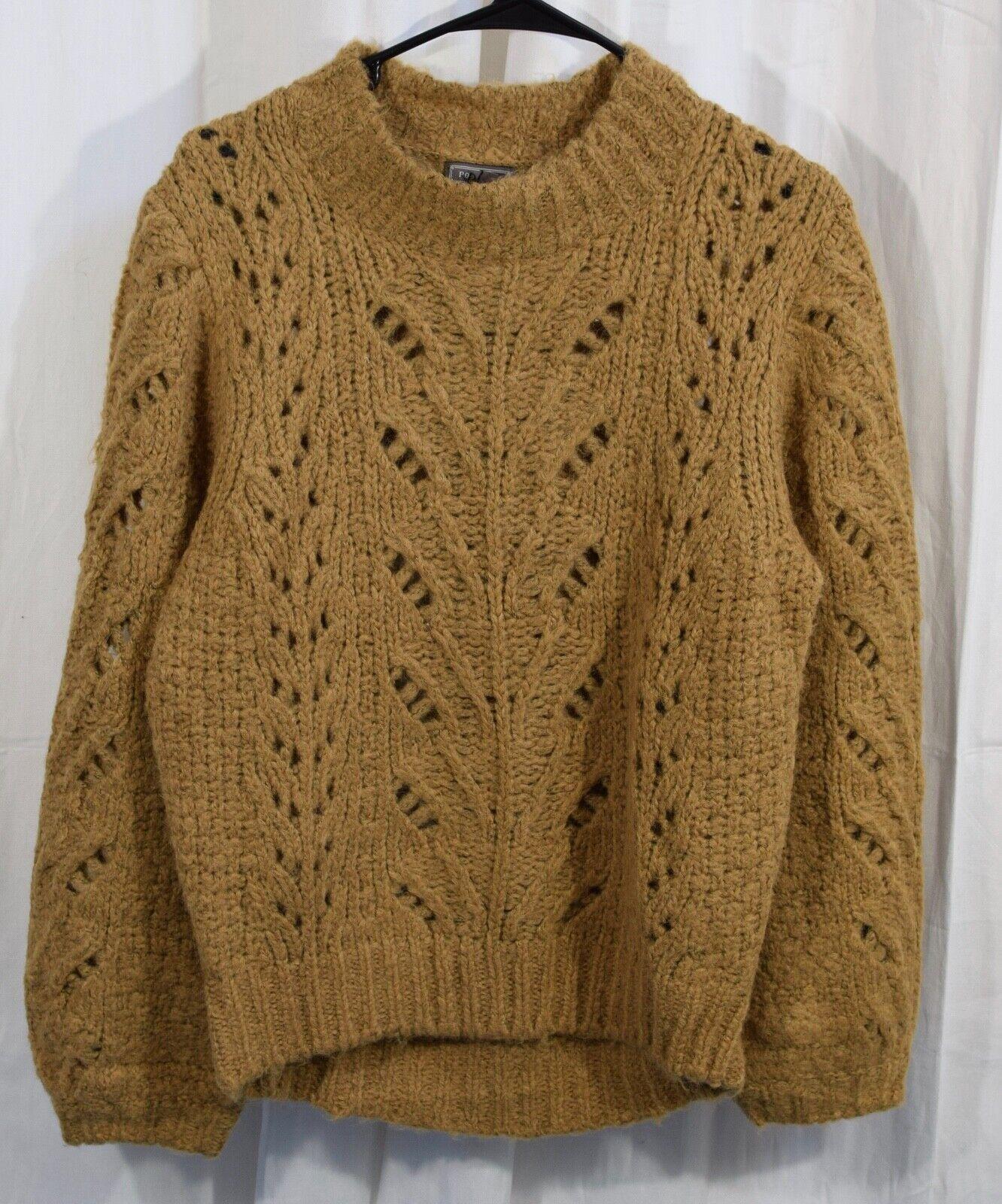 J.Crew Womens Point Sur Pointelle Knit Crewneck Sweater Size Large