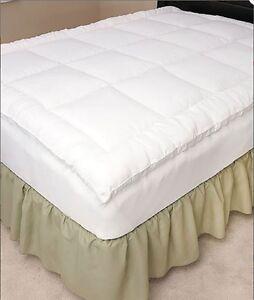 fitted mattress topper full queen bed gel fiber soft cozy pillow top bedding new. Black Bedroom Furniture Sets. Home Design Ideas