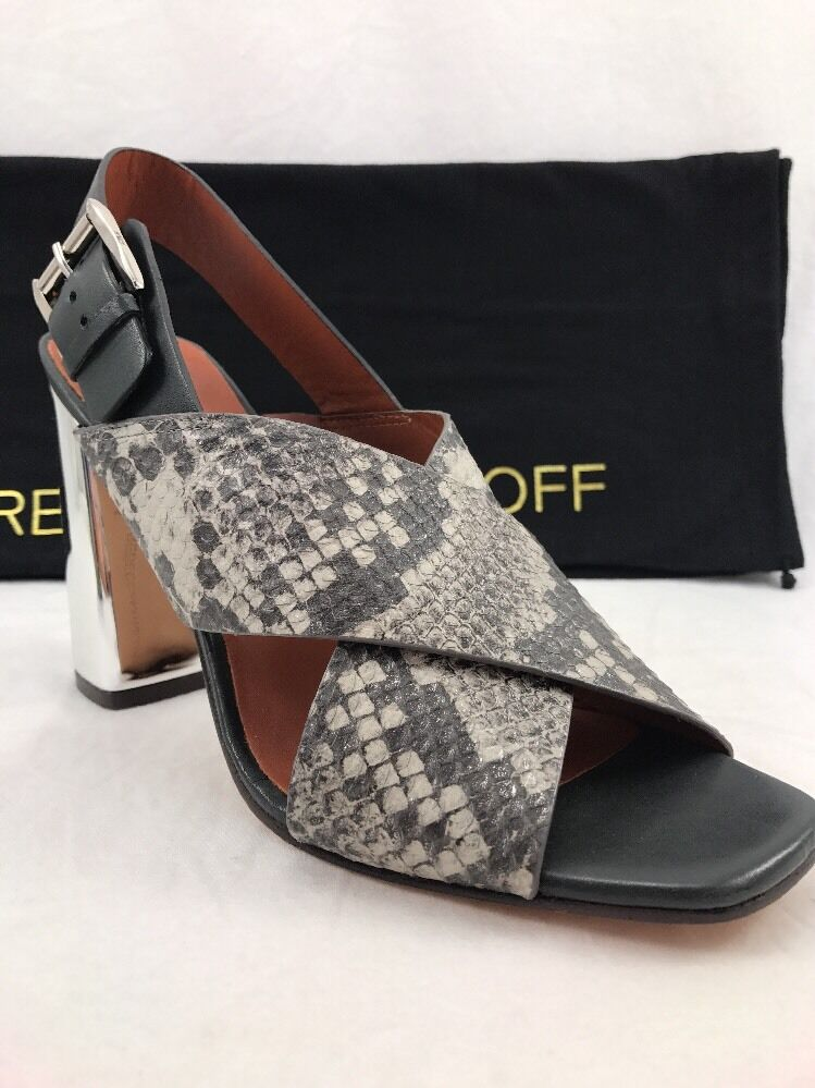 NEW  Sandals REBECCA MINKOFF Women's Gray Pina Crisscross Slingback Sandals  New Size 8 ac8712