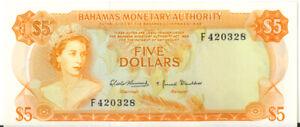 Bahamas-Monetary-Authority-1968-5-Five-Dollars-P-29-UNC