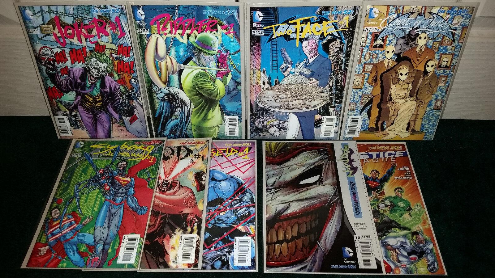 Batman - joker  riddler  two - face - superman zod   1 3d - deckung viel + dc comics