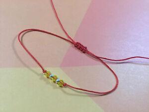 Citrine-Bracelet-Crystal-Swarovski-925-Silver-Red-Protection-Handmade