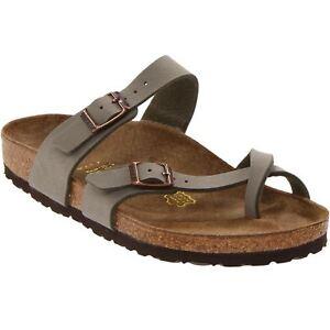 21bc6834e5 Details about Birkenstock Mayari Stone Womens Birko-Flor Open Back Strapped  Sandals
