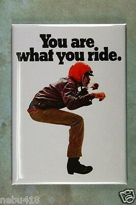 """Vintage BSA Motorcycle Ad  Fridge Magnet 2 1/2"""" x 3 1/2""""  You are what you ride"""