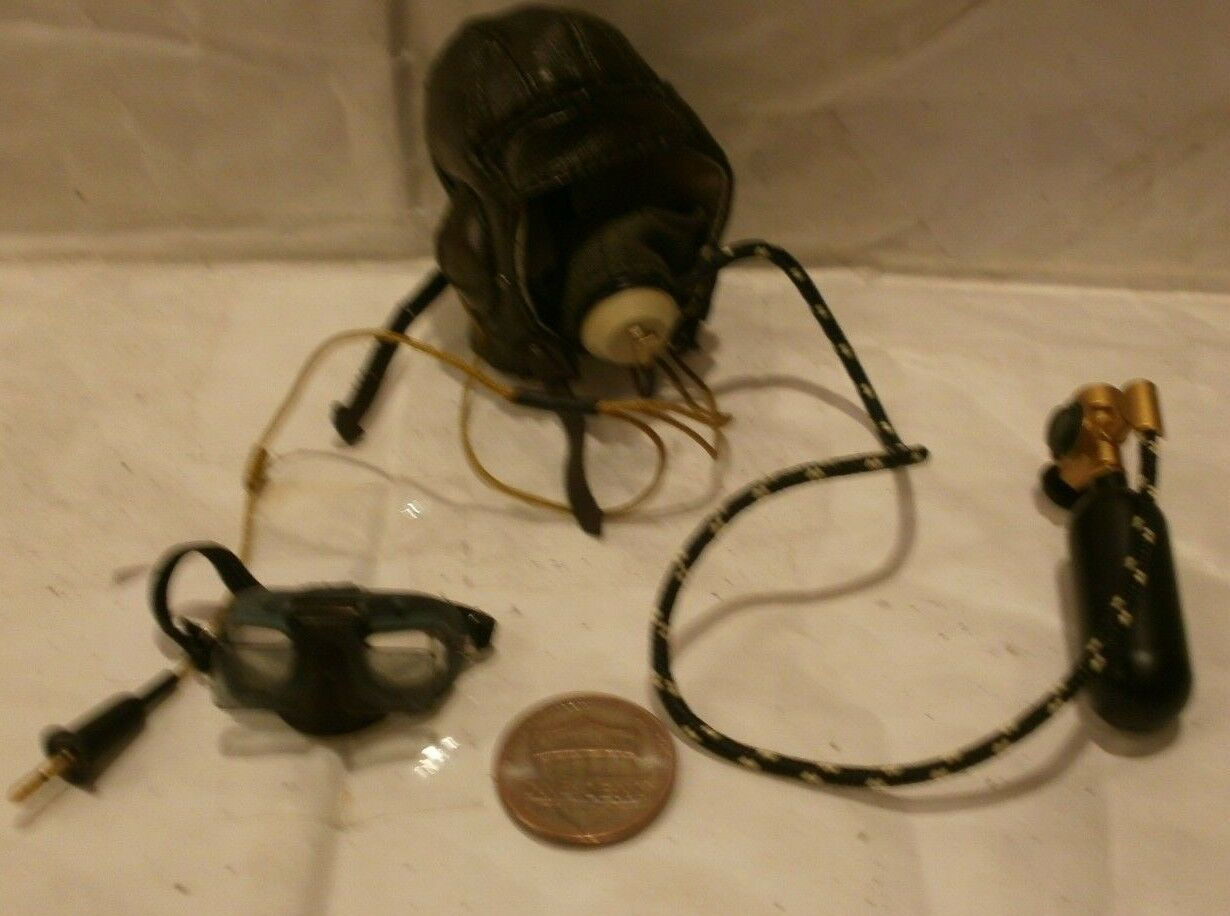 Alert Line RAF pilot flying helmet mask & goggles 1 6th scale toy accessory