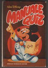 manuali disney MANUALE QUIZ nuova versione riveduta 1a  prima edizione 1983 I a