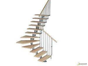 Details Sur Escalier Gain De Place Compact Modulaire En Kit Torino 80cm