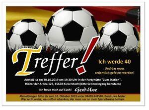 Toll Das Bild Wird Geladen Originelle Einladungskarten Geburtstag Fussball  Sport 11 18 20