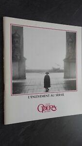 Revista Theatre National Opera París Noviembre 1984 Buen Estado