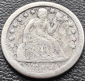 1860 S Seated Liberty Dime 10c Rare Better Grade San Francisco #15080