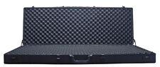 "48"" Aluminum Frame Rifle Case Black Ribbed + Locks AR15 AK Rifle Travel Storage*"