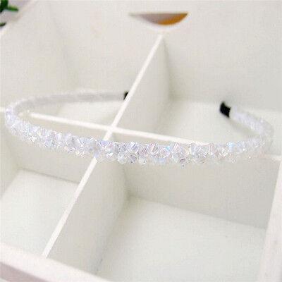 Fashion Women Bridal Crystal Beads Wedding Tiara Headband Hair Band