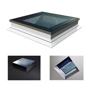 Flachdach-Fenster-PVC-Lichtkuppel-90-x-90cm-Festelement-Uw-1-1W-m-K-OKPOL-PGX-A1