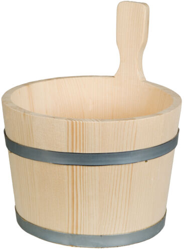 Bottich Kübel Holzbottich in trichterform 1 Griff  2,5 Liter Fichtenholz H 30 cm