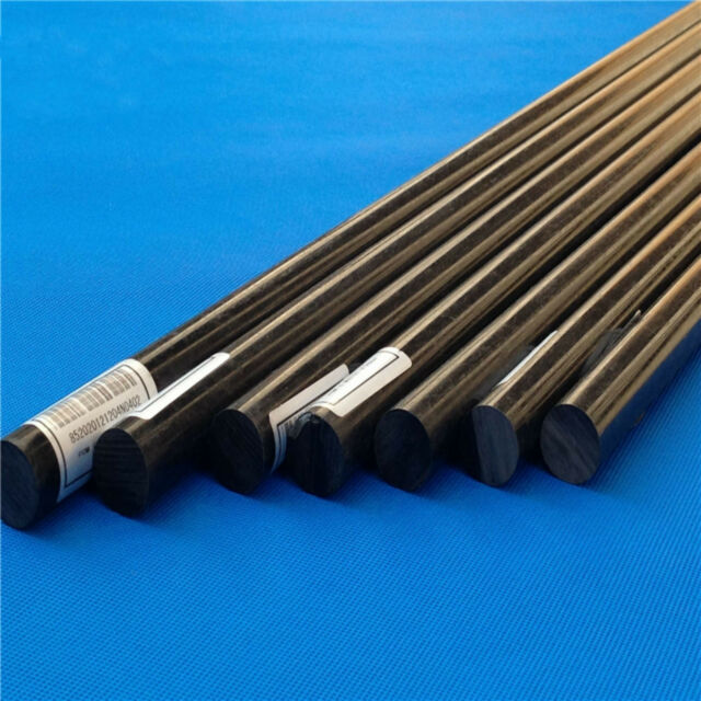 "20/"" Black ACETAL POM Plastic Round Bar Rods Lot Diameter 35mm length 500mm"