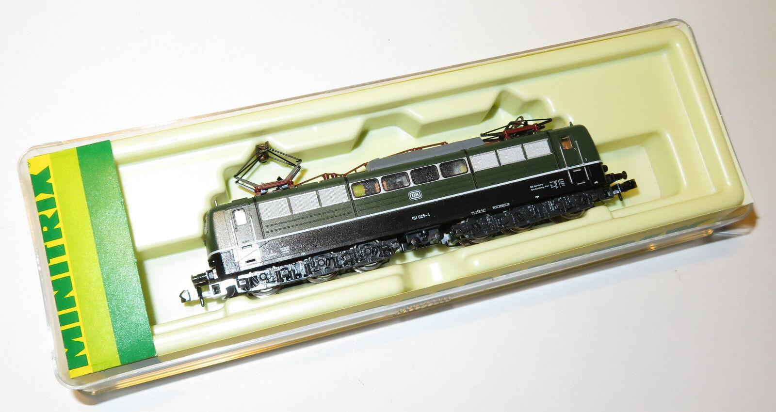 Minitrix Spur N 51 2056 00 E-Lok BR 151 DB beidseitig beleuchtet  | Vollständige Spezifikation
